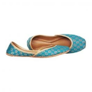 Aqua Banarsi Khussa For Women