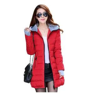 Womens Wadded Down Red Slim Coat