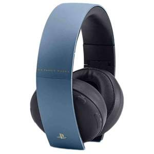 Sony PlayStation Uncharted 4 Limited Edition Gold Wireless Headset Gray Blue