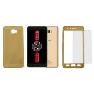 Pack of 2 Xiaomi Redmi 4x Full Coverage Glass & Electroplating Case Black & Gold