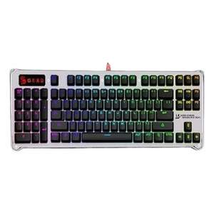 A4TECH Bloody B845R Bloody Mechanical Light Strike Left Num RGB Animation Gaming Keyboard Silver & Black
