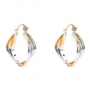 Gold & Rhodium Plated Stylish Earrings  25957