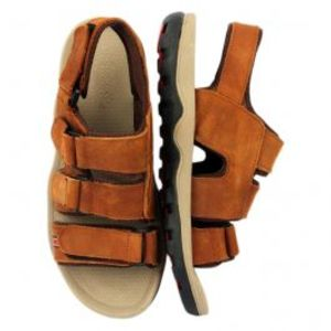 Brown Strips On Sandals For Men