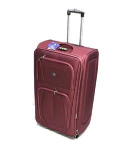 Economy Trolley Suitcase Maroon 2Wheel  Xl - 32-royal maroon