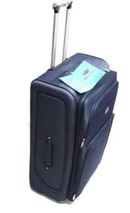 Economy Trolley Suitcase Blue 2Wheel  Xl - 32-royal32 blue