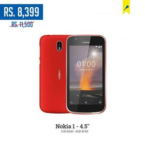 Nokia 1 - 4.5 - 1GB RAM - 8GB ROM