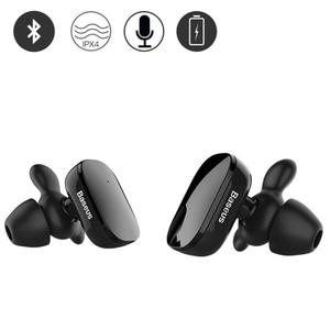 Electrotech Baseus Wireless  Mini Dual  TWS Bluetooth In-Ear Dual True Wireless Earbuds With Mic & Intelligent Touch-W02