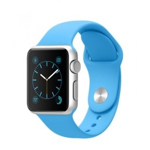 Apple Watch 38mm Silver Aluminum Case with Blue Sport Band