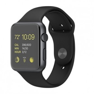 Apple Watch 42mm Space Gray Aluminum Case with Black Sport Band (SERIES 1)