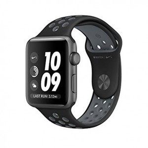 Apple Watch Series 2 42mm Case Space Gray Aluminum Nike Sport Band Cool Gray