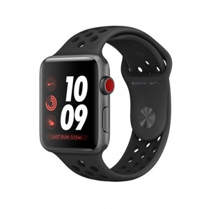 Apple Watch Series 3 42mm Case Space Gray Aluminum Nike Sport Band Black