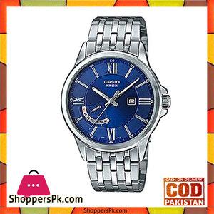 Casio Silver Alloy Watch For Men  MTP-E125D-2AVDF
