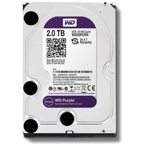 Western Digital  WD Purple WD20PURX 2TB SATA 6.0Gb/s 3.5 Surveillance Hard Drive