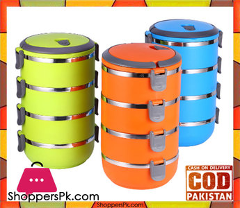 Lunch Box 4 Tier Insulated Tiffin Box with Vaccum Seal