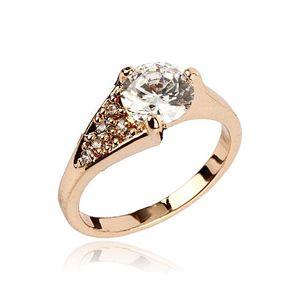 Zircon Embellished 24-K Gold Plated Ring