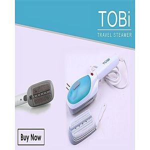 TOBI Travel Steam Iron Tobi Blue & White