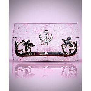 Pink Clutch Leather Bags For Ladies