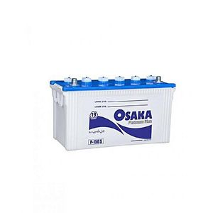 Osaka Batteries PLATINUM P250S 27 Plates Acid Battery White