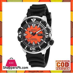 Seiko Orange Rubber Watch For Men -SRP315K1
