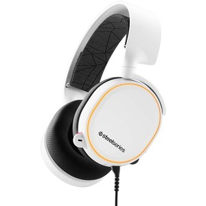 SteelSeries Arctis 5 (2019 Edition) RGB Illuminated Gaming Headset for PC and PlayStation 4  White  61507