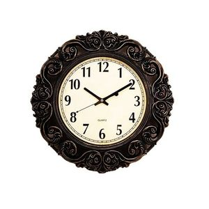 Gold Shaded Antique Wall Clock  17×17  Black