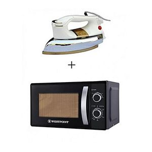 Westpoint Pack of 2 Microwave Oven WF823M 20 Liter With Free Dry Iron