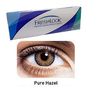 FreshLook Pure Hazel Color Contact Lenses with free Kit