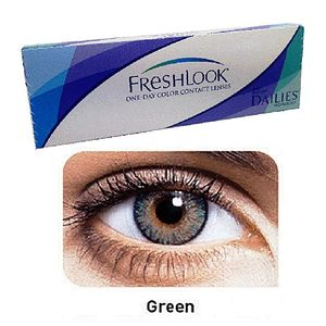 FreshLook Green Color Contact Lenses with free Kit