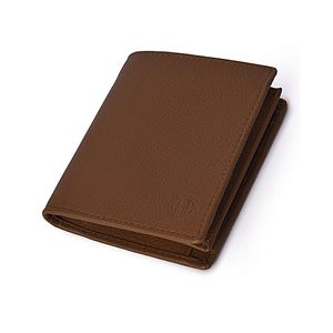 Mild Tri-Fold Mens Leather Wallet in Tan