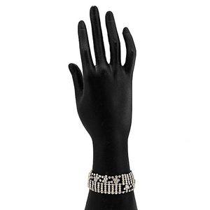 Silver Steel & Stone Bracelet for Women  JP-2933