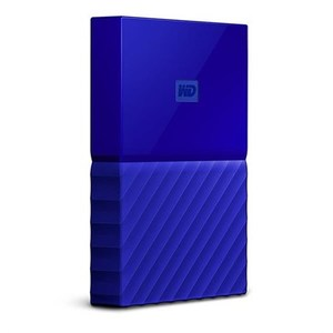 WD  My Passport 1TB External USB 3.0 Portable Hard Drive  Blue (WDBYNN0010BBL)