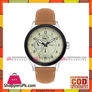 Timex Beige Analog Quartz Chronograph Watch For Men