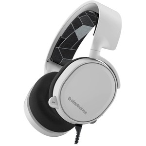 SteelSeries Arctis 3 (2019 Edition) All-Platform Wired Gaming Headset  White  61506  For PC, PlayStation 4, Xbox One, Nintendo Switch, VR, Android, and iOS