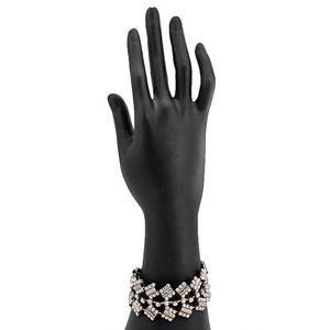 Silver Steel & Stone Bracelet for Women  JP-2932