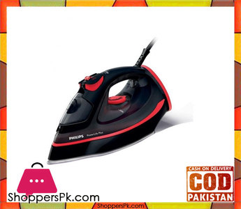 Philips Power Life Plus Steam Iron  Black & Red
