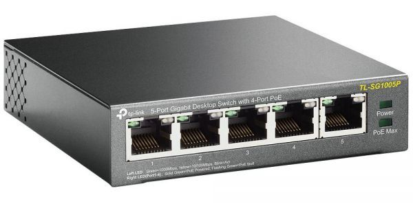 Tplink SG1005P Desktop Switch 5-Port Gigabit with 4-Port POE