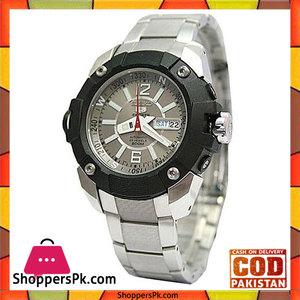 Seiko Grey Dial Stainless Steel Watch For Men -SKZ259K1