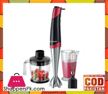 Westpoint WF-9816  Deluxe Hand Blender, Beater & Chopper  Red & Black