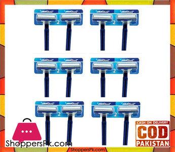 Gillette Pack Of 12  Blue Ii For Men