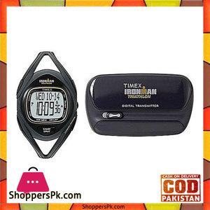 Timex Gray & Black Ironman Midsize Sleek Digital Watch with Fitness Tracker