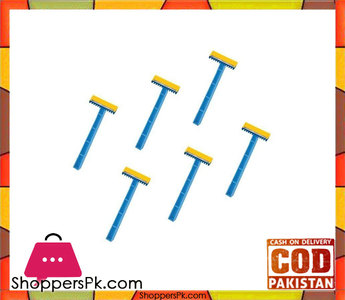 Dw Pack Of 6  Razors  Blue And Yellow
