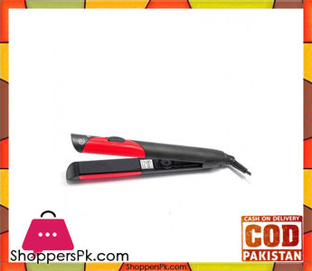 Raees Collection  Kemei Km-1296  Hair Straightener  Black & Red
