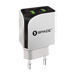 Space Dual Port USB Wall Charger  WC-111