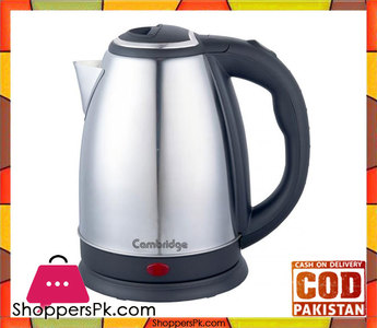 Cambridge Appliance Electric Cordless Kettle  SK-9779 -1.0 Liter  Black & Silver