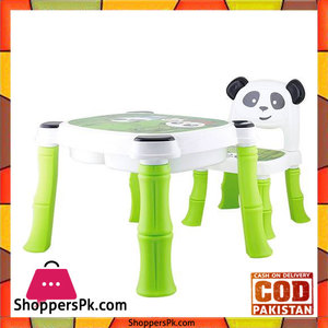 A + B High Quality Fiber Plastic Panda Chair Table for Kids 8006