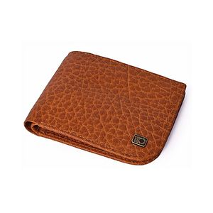 Tan Leather Grained Quasi Collection Leather Wallet For Men  LGW-19-TA