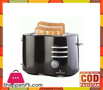 Westpoint WF-2542  Deluxe 2 Slice Pop-Up Toaster  Black