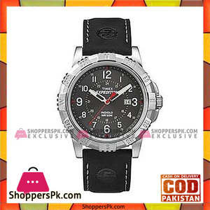 Timex Leather Strap Analog Watch For Men  Black