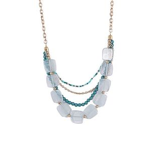 Multilayer Emerald And Green Color Beads Necklace  N15