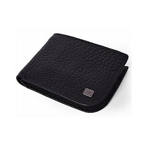 Black Leather Grained Quasi Collection Wallet For Men  LGW-19-BL